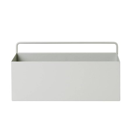 Ferm Living Plantenbox mur rectangle lumière 30,6x14,6x15,6cm métallique gris