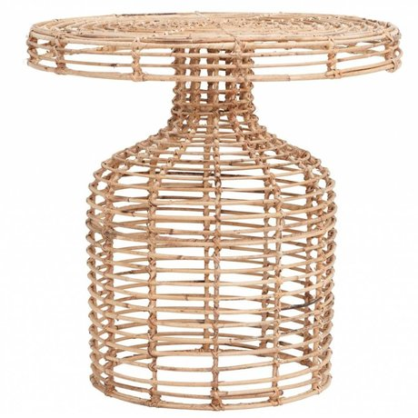 Housedoctor Table d'appoint en rotin naturel 46x46cm