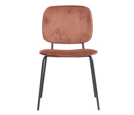 Housedoctor Chaise de salle à manger Comma rouille velours 55,5x51x83cm