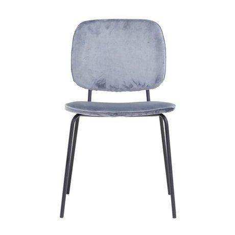 Housedoctor Chaise de salle à manger Comma gris velours 55,5x51x83cm