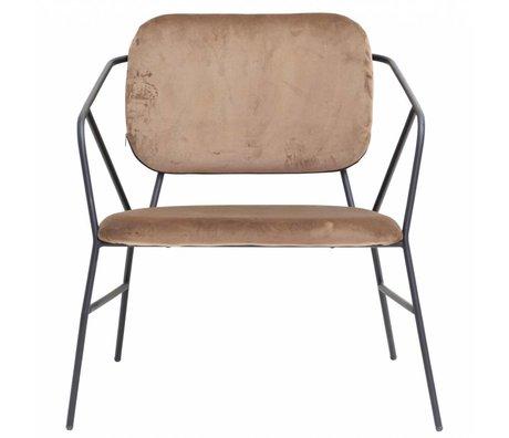 Housedoctor Lounge stoel Klever bruin velvet 70x70x75cm