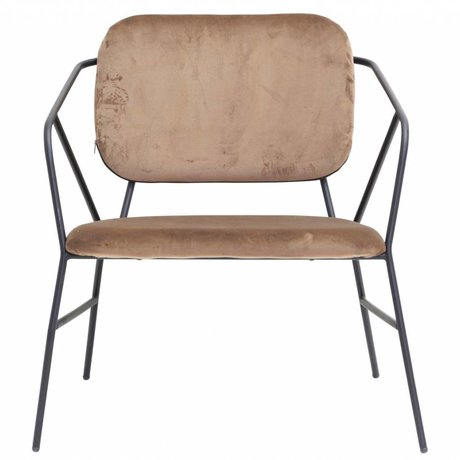 Housedoctor Lounge chair Klever brown velvet 70x70x75cm