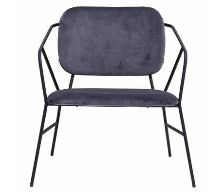Housedoctor lounge chair Klever gray velvet 70x70x75cm