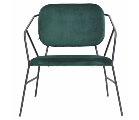 Housedoctor Chaise longue Klever velours vert 70x70x75cm