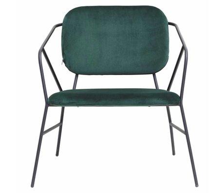 Housedoctor Lounge stoel Klever  groen velvet 70x70x75cm
