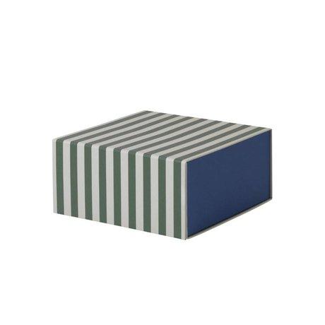 Ferm Living Aufbewahrungsbox Platz grün weiße Pappe 23x11,1x23cm