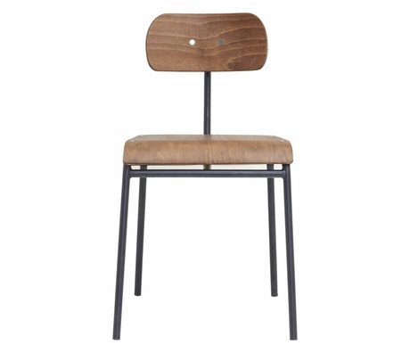 Housedoctor Dining Chair Schule braun 41,5x41x45cm