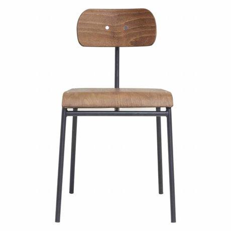 Housedoctor Chaise de salle 41,5x41x45cm école brun