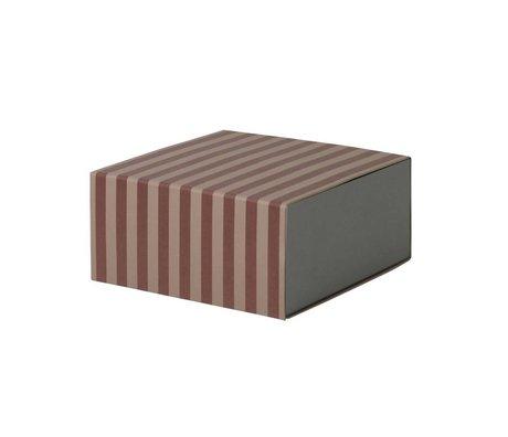 Ferm Living Storage box Square burgundy pink cardboard 23x11,1x23cm