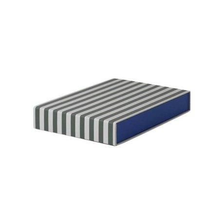 Ferm Living Boîte de rangement rectangulaire 23x32x5cm en carton blanc vert