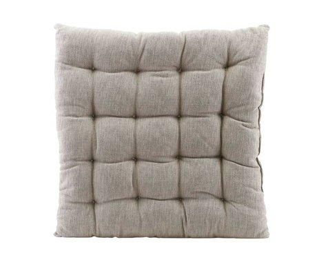 Housedoctor Chair cushion Field gray cotton 50x50cm