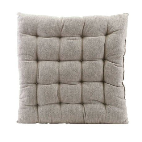 Housedoctor Oreiller terrain coton gris 50x50cm