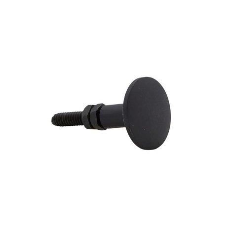 Housedoctor Deurknop zwart brass 3cm set van 2