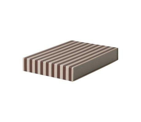 Ferm Living Boîte de rangement rectangulaire bordeaux 23x32x5cm en carton rose