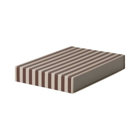 Ferm Living Storage box Rectangular bordeaux pink cardboard 23x32x5cm