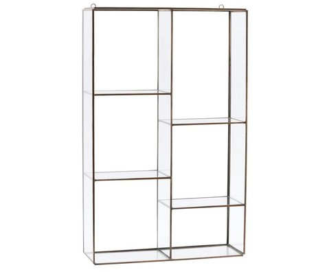 Housedoctor Wall cabinet Rack gold steel 52x33x11cm