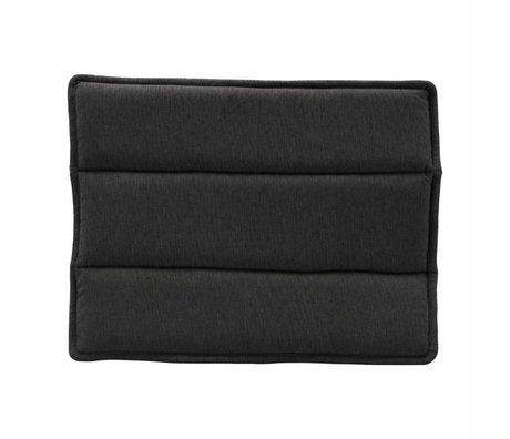 Housedoctor Chair cushion Lounge black cotton 48x55cm