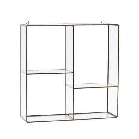 Housedoctor Wall cabinet Rack gold steel 33x33x11cm