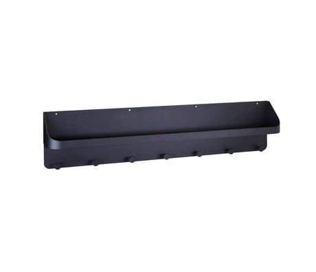 Housedoctor Wand kapstok Pocket zwart staal 98x16x22cm