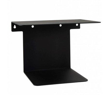 Housedoctor Bookshelf black steel 32x25x23cm
