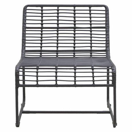 Housedoctor Chaise longue Oluf fer noir 61x74x71,5cm