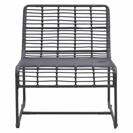 Housedoctor Lounge chair Oluf black iron 61x74x71,5cm