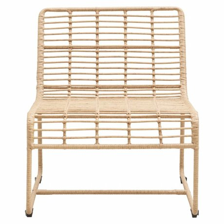Housedoctor Lounge chair Oluf nature iron 61x74x71,5cm