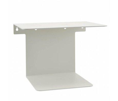 Housedoctor Bücherregal weiß Stahl 32x25x23cm