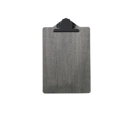 Ferm Living Presse-papiers A5 bois noir 17x25,5cm