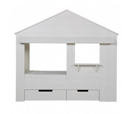LEF collections Huisie châlit blanc, lit d'expédition 187x210x99cm