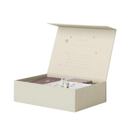 Ferm Living Memory Box Le début de mon papier crème vie 25x18x7cm