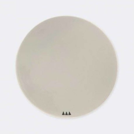 Ferm Living Bordje grijs porselein Ø15cm