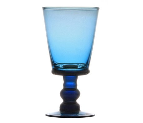 HK-living HK-living  Wijnglas blauw glas smoke 8x8x15,5cm