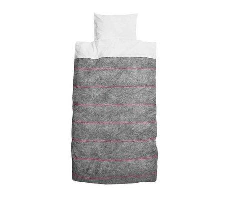 Snurk Beddengoed Couette nouveau 140x240cm coton gris rose école rose