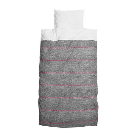 Snurk Beddengoed Dekbedovertrek new school pink roze grijs katoen 140x240cm