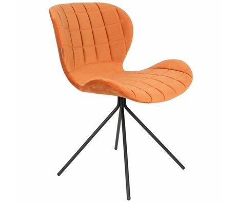 Zuiver Chaise OMG orange velours 51x56x80cm