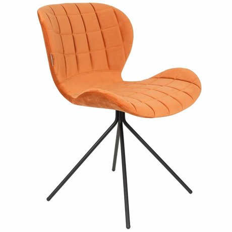 Zuiver Chair OMG orange velvet 51x56x80cm