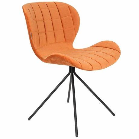 Zuiver Stuhl OMG orange Samt 51x56x80cm