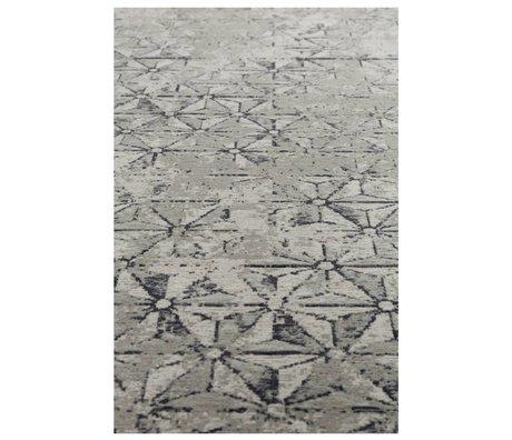 Zuiver Vloerkleed miller grijs textiel 200x300cm