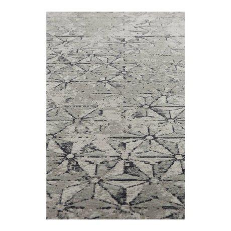 Zuiver Vloerkleed miller grijs textiel 170x240cm