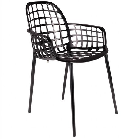 Zuiver Chaise de jardin Albert Kuip métal noir 59,5x59,5x82,5cm