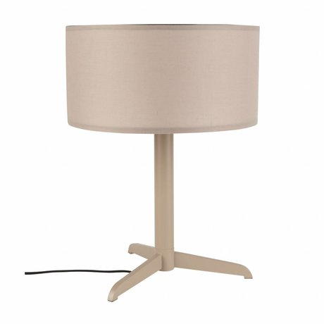 Zuiver Lampe de table Shelby taupe marron lin coton métal 36x48cm