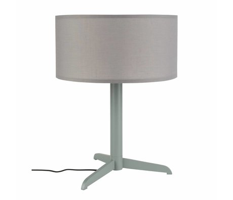 Zuiver Table lamp Shelby gray linen cotton metal 36x48cm