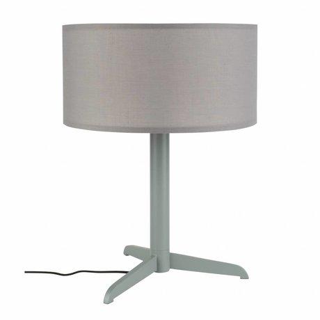 Zuiver Lampe de table Shelby gris lin coton métal 36x48cm