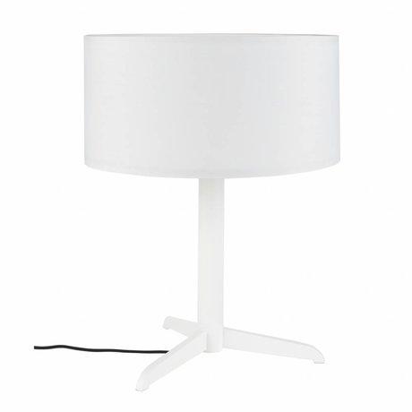 Zuiver Lampe de table Shelby blanc lin coton métal 36x48cm