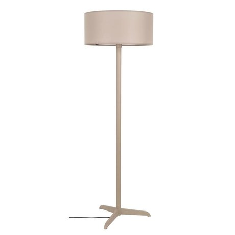 Zuiver Floor lamp Shelby taupe brown linen cotton metal 50x155cm