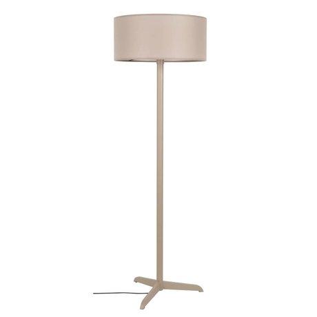 Zuiver Staande lamp Shelby taupe bruin linnen katoen metaal 50x155cm