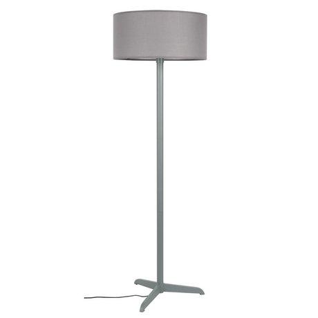 Zuiver Staande lamp Shelby grijs linnen katoen metaal 50x155cm