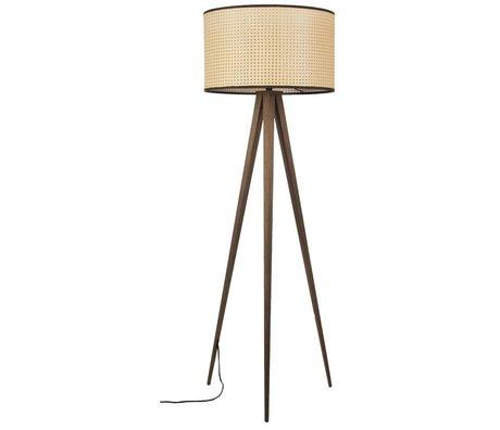 Zuiver Staande lamp Tripod webbing bruin kunststof hout 50x157cm