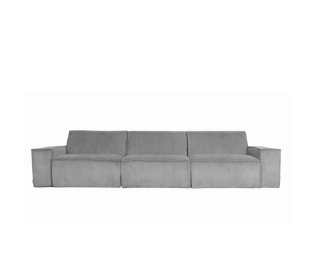 Zuiver Sofa James Cool 3-Sitzer graue Rippengewebe 310x91x74cm